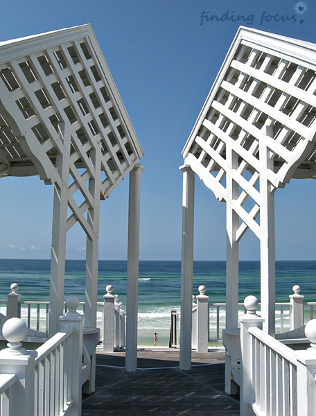 seaside beach dune walkover architecture photo