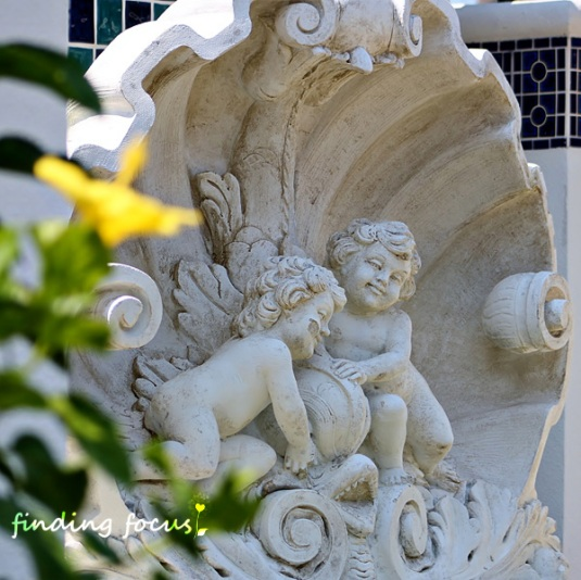 cherub fountain, Seacrest Beach Florida
