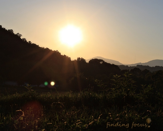 sun setting over the hills, sunset over the meadow, golden sun over the hills